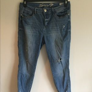 Seven7 Distressed jeggings